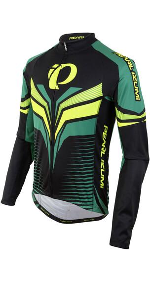PEARL iZUMi ELITE Thermal LTD jersey lange mouwen Heren groen/zwart